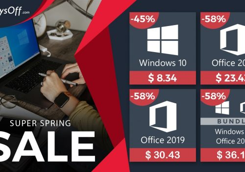 Windows 10 PRO a solo $ 8.34 y Office a $ 23.43